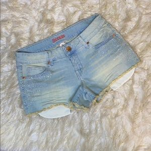 Decree Junior Denim Shorts with Jewels Sz 11